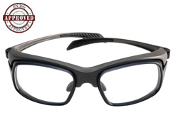 f2e571751f9 The Slide is a futuristic looking pair of prescription safety glasses in  wraparound style.